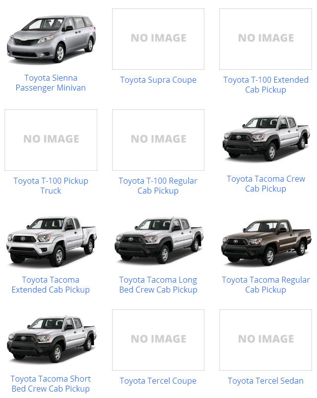 Các dòng xe Toyota & mẫu xe Toyota từ trước đến nay