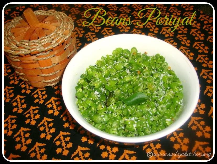 Beans Poriyal recipe, Beans Stir Fry recipe,Beans Thoran Recipe / Beans Fry Recipe