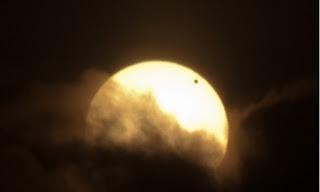 Venus visto desde Santo Domingo en su tránsito por el Sol