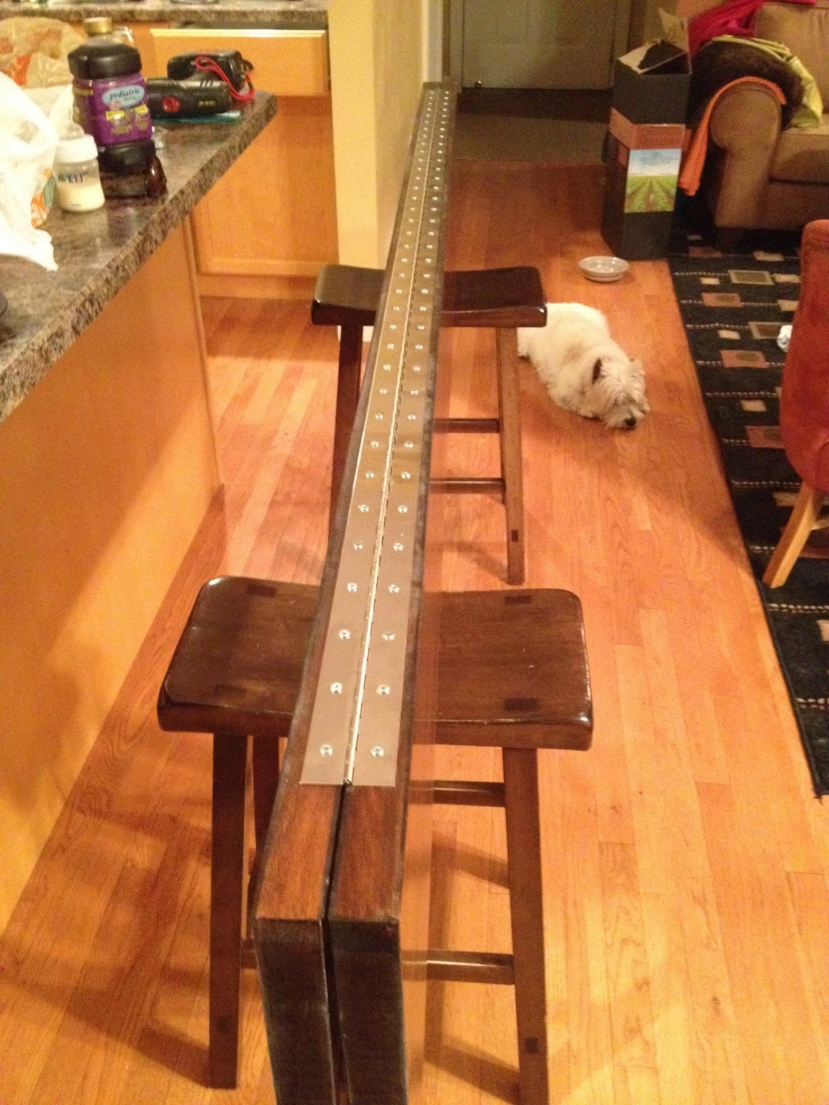 Once The Door Was Stained, I Attached A 72 Inch Piano Hinge To It On The  Two Sides That Would Sit To The Rear When Installed. (These Are The Two  Sides That ...