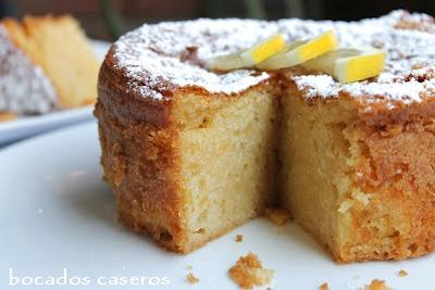 Bocados caseros bizcocho esponjoso de lim n - Bizcocho de limon esponjoso ...