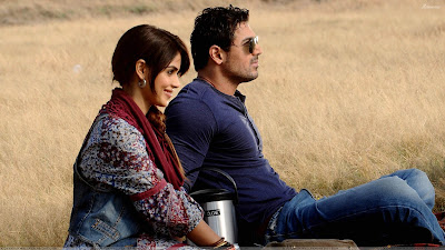 Genelia D 27souza And John Abraham Sitting In Field In Force Movie jpgGenelia Hairstyle In Force