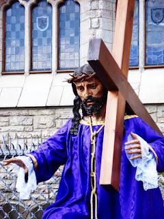 Jesús con la Cruz a cuestas de la iglesia de Celadilla del Páramo. Procesión Rosario de Pasión. León. Foto G. Márquez.