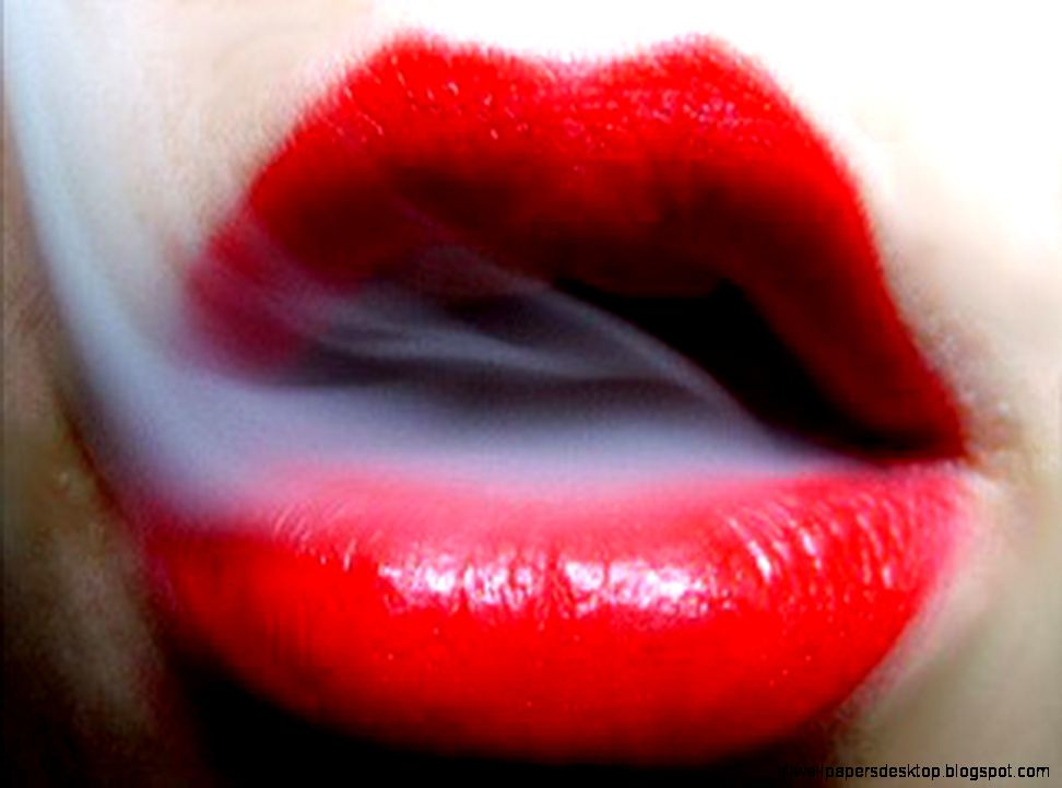 Wallpapers Smoke Girl Lip Stick Lips Mouth Other People Red y