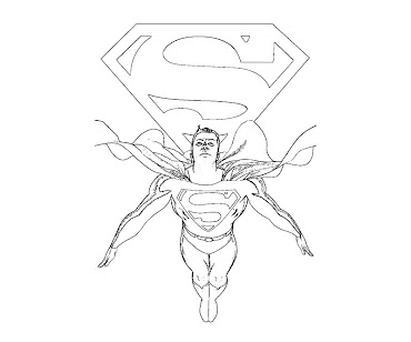 #8 Superman Coloring Page