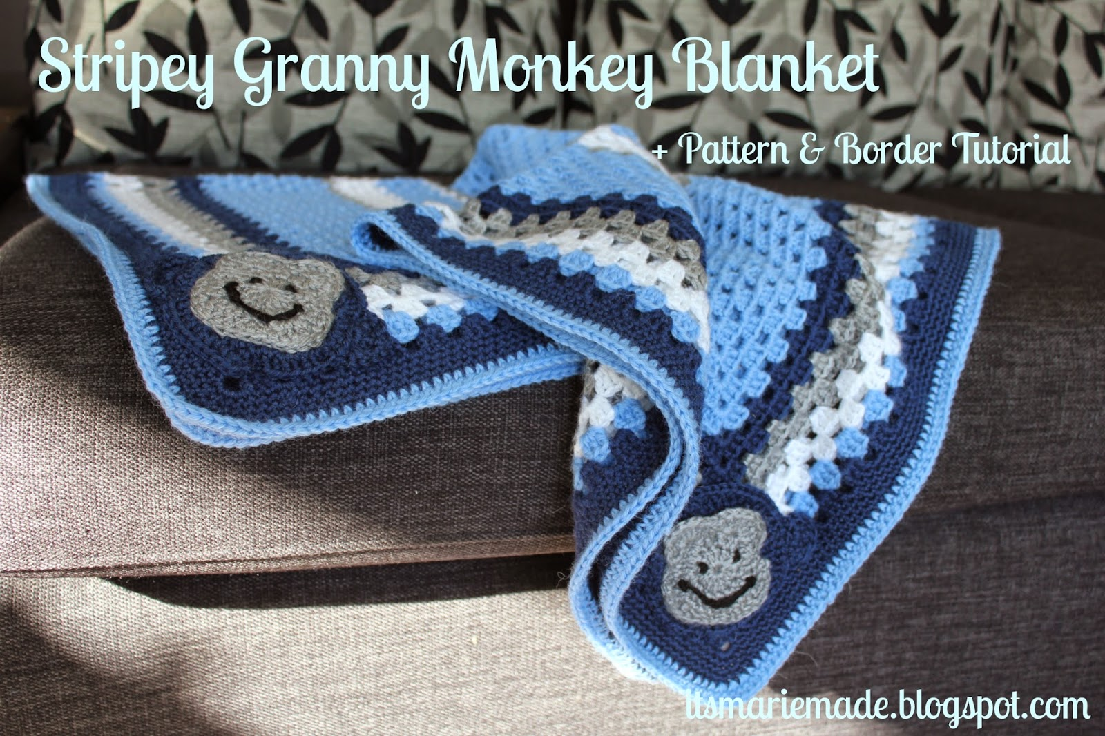 Its marie made stripey crochet granny monkey blanket pattern as soon as i found out my brother in law and his wife were having a baby i knew i wanted to make a blanket for the new addition bankloansurffo Images
