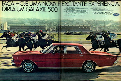 propaganda Ford Galaxie 500 - 1970, história década de 70; reclame anos 70;Brazilian advertising cars in the 70s; Oswaldo Hernandez;