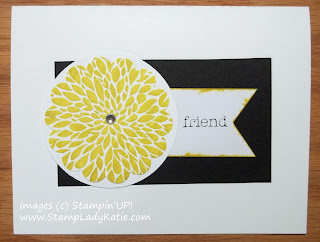 Card made with Stampin'UP!' stamp set: Betsy's Blossoms