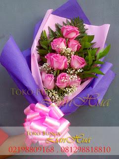handbouquet mawar valentine, jual mawar valentine