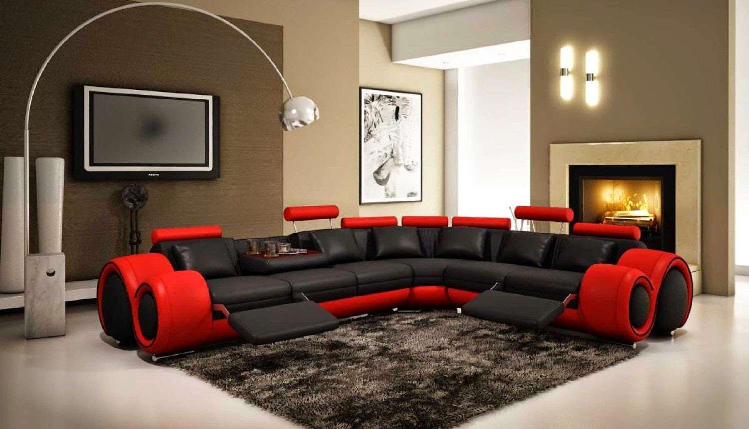 red couches red and black couches