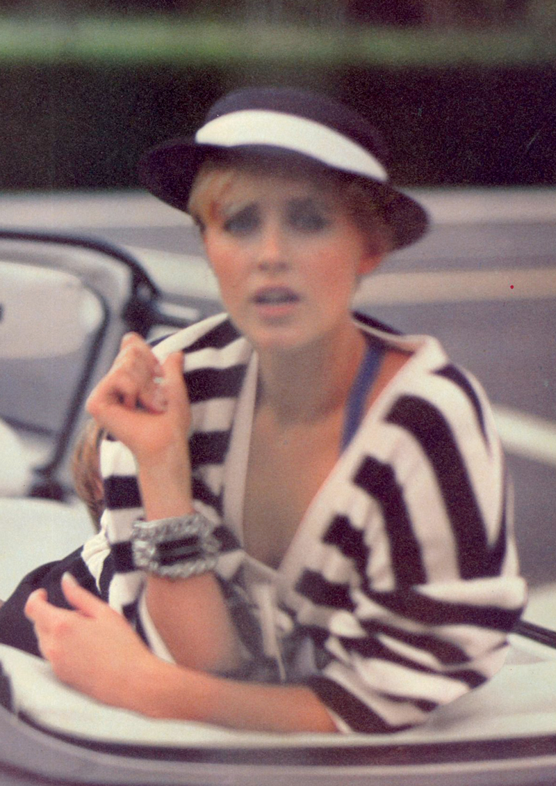 Breton top / How to style breton top / Story of breton stripes / Vogue US March 1983 via fashioned by love british fashion blog