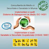 Consultanta de Mediu si  ISO 14001, Securitate si Sanatate in Munca si OHSAS