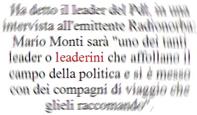 Monti leaderino
