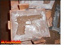 foundry sand casting aluminum pistol replica