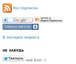 Подписки для блога