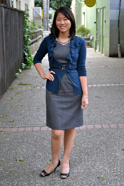 sacramento office fashion blogger angeline evans the new professional blog business casual mossimo dress target gap corsage cardigan sale nine west peeptoe pumps american eagle necklace belt