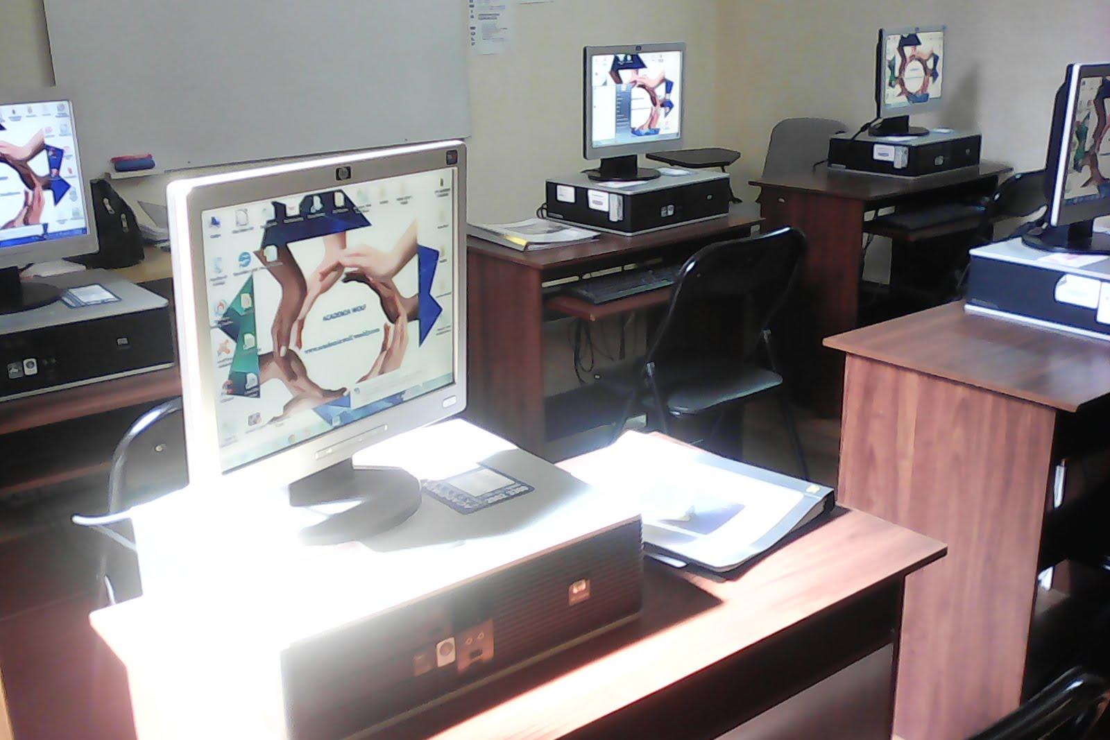 Salón de informática.