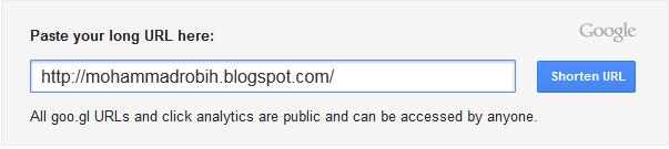 Cara Menyingkat URL dengan Google Shortener