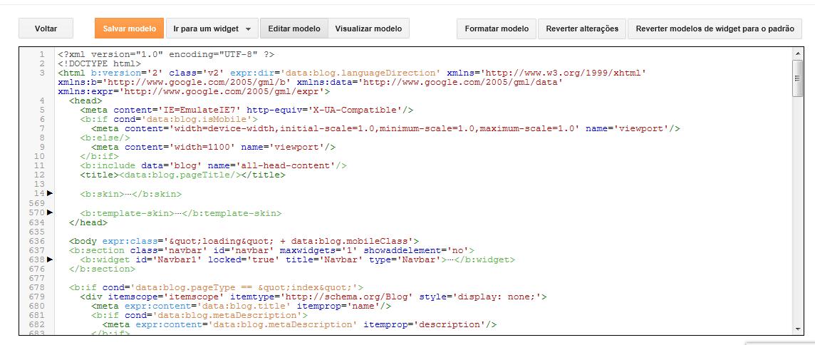 como instalar template no blogger