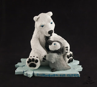 polar bear ice berg wedding cake topper