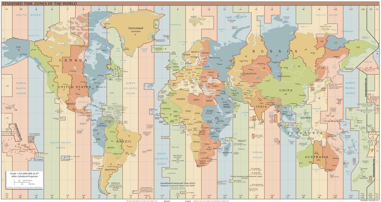 Map of us time zones