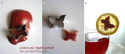 easy lemon and apple garnises