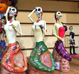 Day of the dead mermaids.