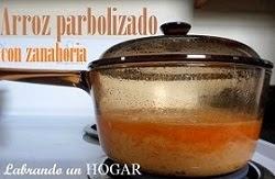 Receta: Arroz parbolizado con zanahoria