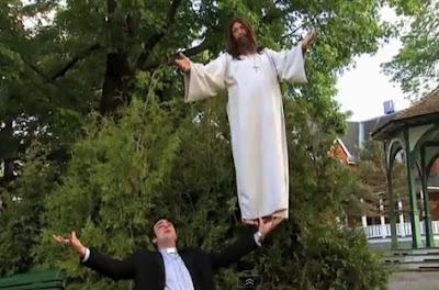 broma de jesus volando