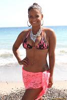 Christina Milian in Bikini hits the Beach in Malibu