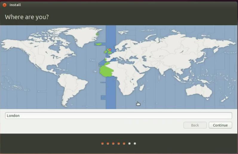 Install OS Ubuntu 14.10 : Pilih lokasi