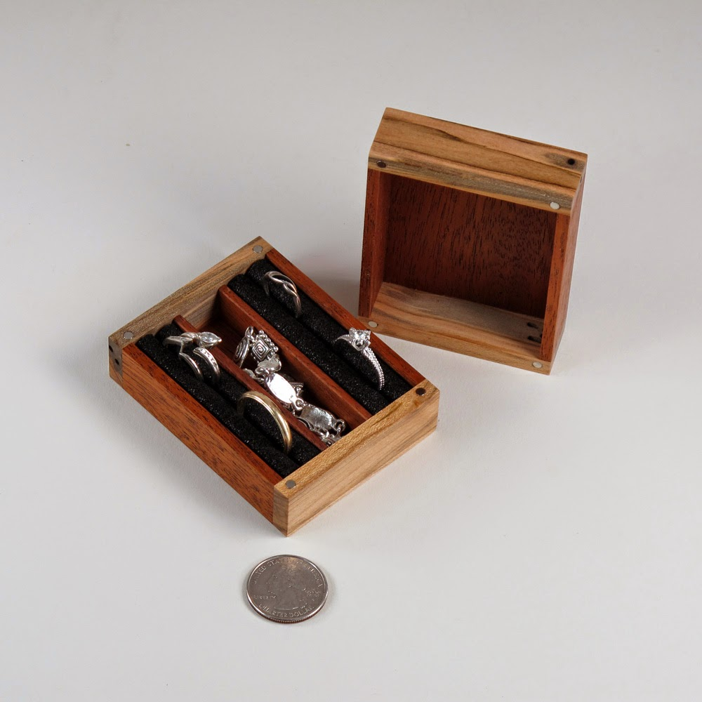 Handmade Mahogany and Spalted Maple Jewelry Box