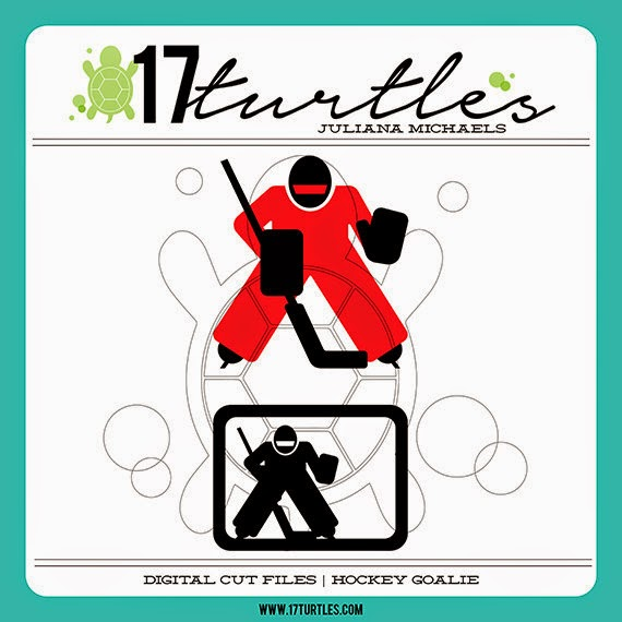 Hockey Goalie 17turtles Digital Cut Files Juliana Michaels
