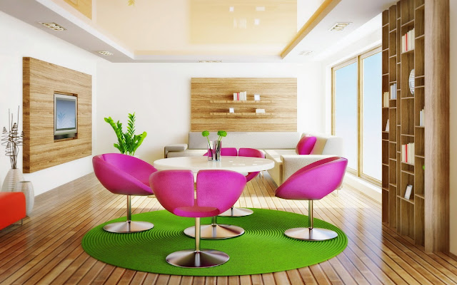 Modern Interior Design Wide Wallpaper