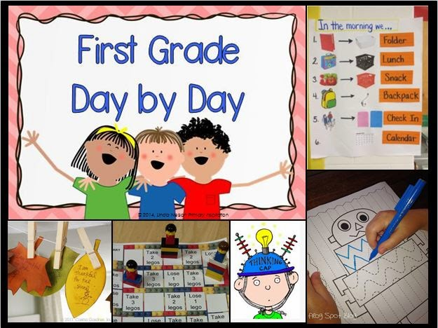 http://www.pinterest.com/primaryinspire/first-grade-day-by-day/