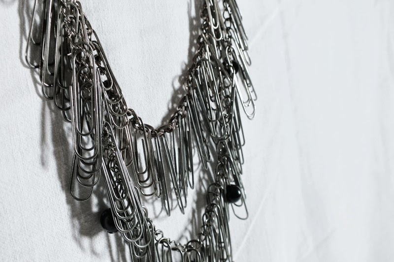 diy paper clip necklace