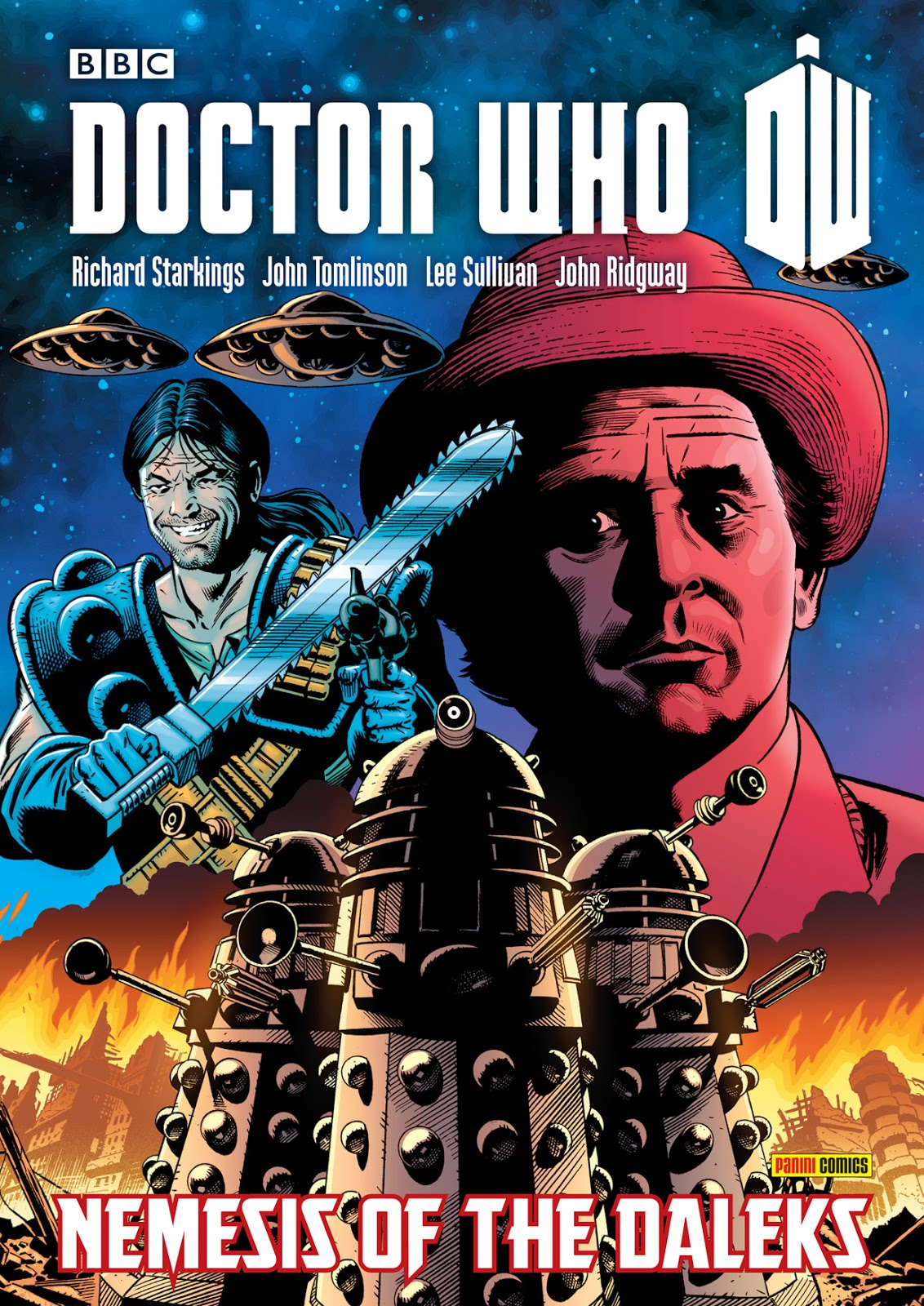 Graphic Novel Book Cover : Doctor who news nemesis of the daleks graphic novel