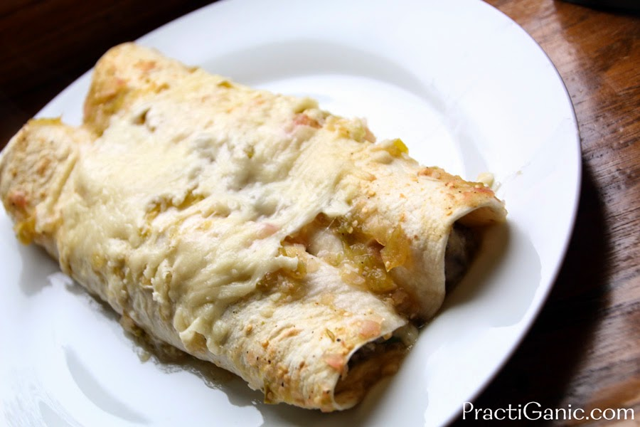 Roasted Garlic, Acorn Squash & Mushroom Enchiladas