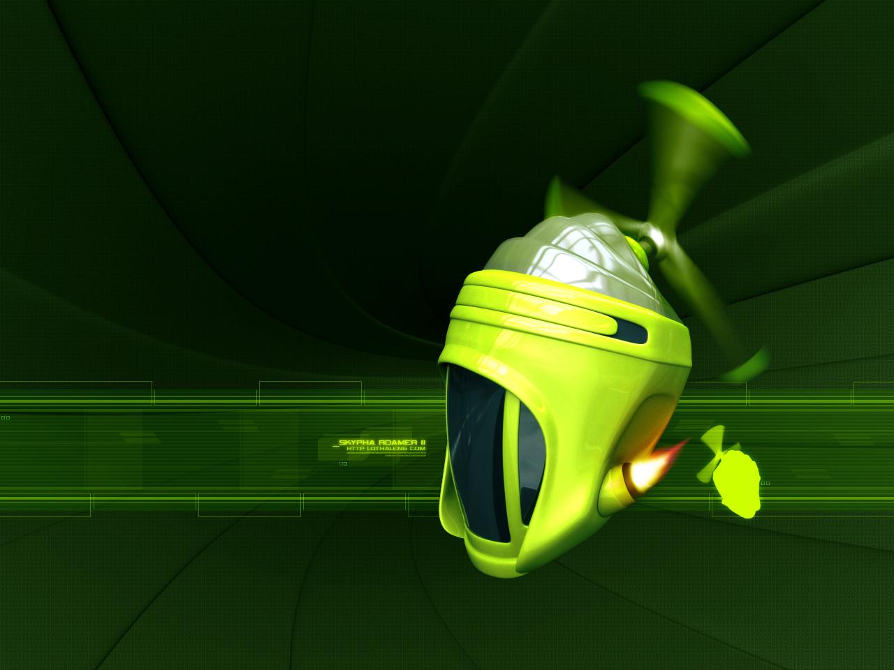 Real wallpapers 3d green robot wallpaper - Robot wallpaper 3d ...