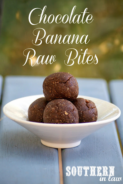 Chocolate Banana Raw Bites Recipe