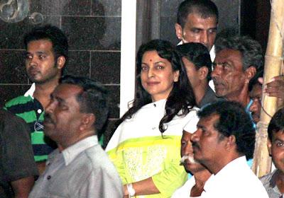 Juhi Chawla at Salman Khan's Ganpati visarjan stills