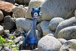 Glass Cat at Jewell Gardens - Skagway, Alaska