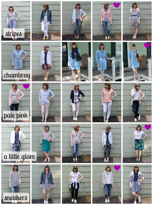 25 spring looks from a capsule wardrobe | www.shealennon.com