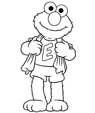 elmo coloring pages to print