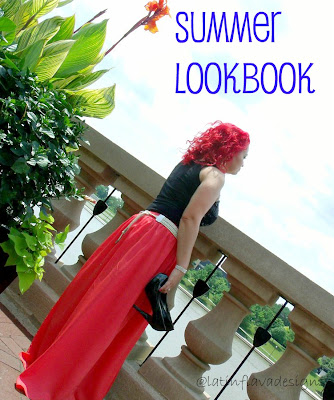 summer lookbook maxi skirt outfit