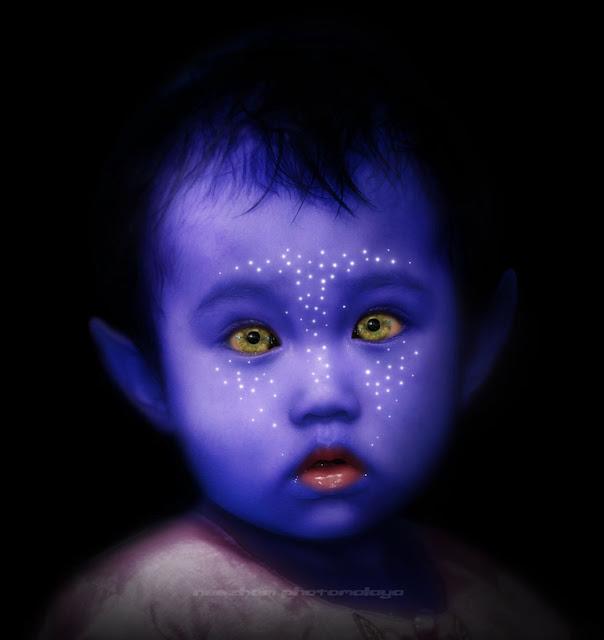 Budak perempuan in black portraiture - Avatar style