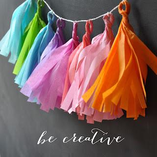 tissue paper tassel tutorial on Creative Bag's Blog
