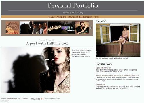 Free Blogger Template - Responsive Portfolio