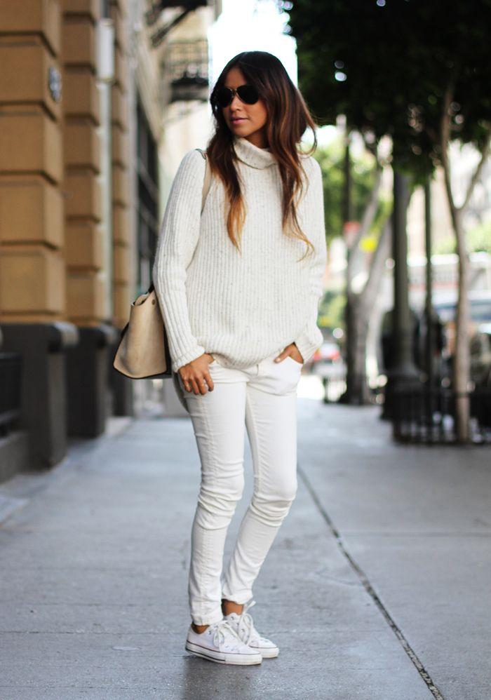 Looks com calça branca no inverno