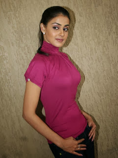 Genelia In Tight Pink Top